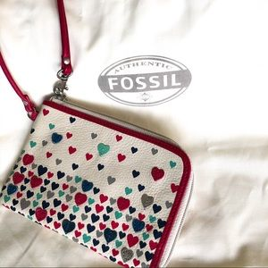 Fossil Hearts Wristlet  NEW